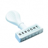 Stempel Text GEBUCHT 45x4mm