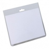Namensschild ohne Clip 90x60mm transparent Hartfol