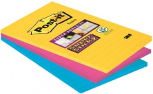 Haftnotiz Post-it 101x152mm sortiert SuperSticky